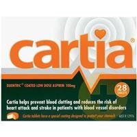 Cartia Aspirin Tablets 100mg 28s