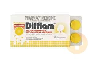 Difflam Lozenges Lemon/Honey Sugar Free 16