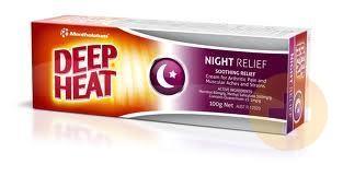 Deep Heat Mentholatum Night Time Strength 100gm