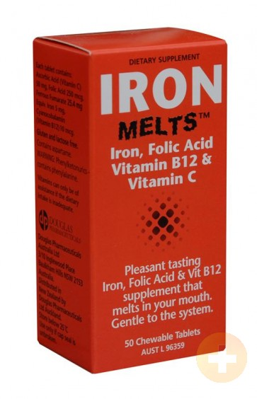 Iron Melts Chewable Tablets 100mg 50