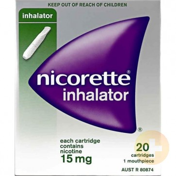 Nicorette Inhalator 15mg Cartridges 20