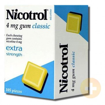 Nicotrol Gum 4mg Classic 105