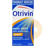 Otrivin Junior Paediatric Nasal Drops 10ml