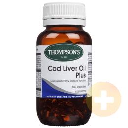 Thompsons Vitamin A Cod Liver Oil Plus 100 Capsules