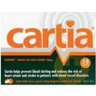 Cartia Aspirin Tablets 100mg 28s