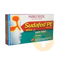 Sudafed PE Sinus + Pain Relief 20
