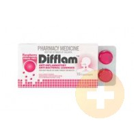 Difflam Lozenges Raspberry Sugar Free 16