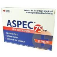 ASPEC Aspirin 75mg 90 Tabets