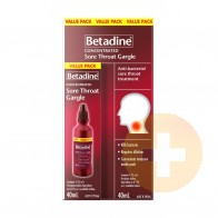 Betadine Sore Throat Concentrated Gargle 40ml
