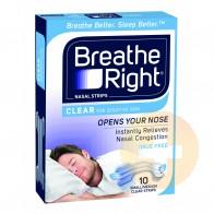 Breathe Right Nasal Strips Regular Clear 10