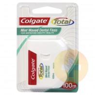 Colgate Total Mint Waxed Dental Floss 100m