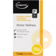 Comvita Winter Wellness Lozenges Lemon & Honey 12