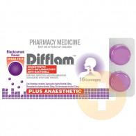 Difflam Blackcurrant Anaesthetic Lozenge 16