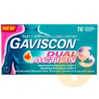 Gaviscon Dual Action Peppermint Chewable Tablets 16