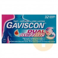 Gaviscon Dual Action Peppermint Chewable Tablets 32