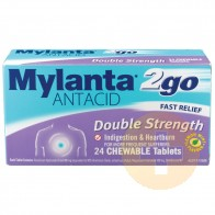 Mylanta Antacid Double Strength Chewable Tablets 24s