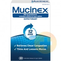 Mucinex Expectorant Tablets 20