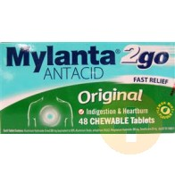 Mylanta Antacid Original Chewable Tablets 48