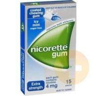 Nicorette Gum Icy Mint 4mg 15