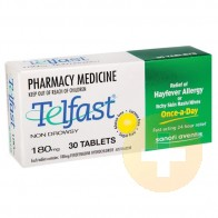 Telfast Tabs 180mg 30