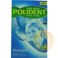 Polident Overnight Tablets 36s
