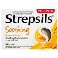 Strepsils Soothing Honey and Lemon Lozenges 36