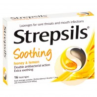 Strepsils Soothing Honey and Lemon Lozenges 16