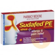 Sudafed PE Sinus + Allergy & Pain Relief 24