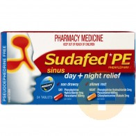 Sudafed PE Sinus Day Night Relief 24