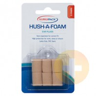 Surgi Pack Hush A Foam Ear Plugs 3 Pairs
