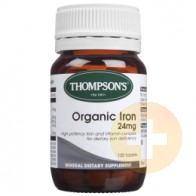 Thompsons Organic Iron 24mg 100