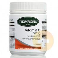 Thompsons Vitamin C 500mg Chewable 200s