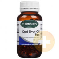 Thompsons Vitamin A Cod Liver Oil Plus 100 Capsules