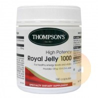 Thompsons Royal Jelly 1000mg 180 Capsules